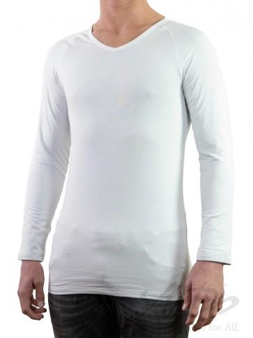 Silvershirt langarm V-Ausschnitt